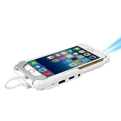 KAIDILA TV Micro DLP-Wifi Portable Pocket LED Smartphone Miniprojektor Pico HD-Video 1080p HDMI für iPad iPhone 6 7 8 X Plus Whit E IOS