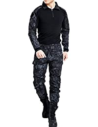 MNBS Hombres del Ejército Airsoft Paintball Tactical camisa y pantalones traje de camuflaje