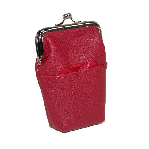 buxton-cadre-etui-portefeuille-en-cuir-rouge-rouge-one-size