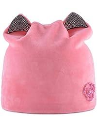 153a4c3b4 Sunonip Oreja De Gato Skullies Gorros Sombreros Sombrero De Invierno  Bufanda Sombreros De Invierno para Mujer