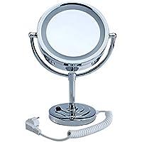 Pre&Mium Kosmetikspiegel mit LED Beleuchtung 7-fache Vergrößerung Chrom