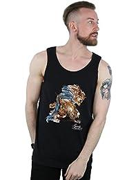 Disney Hombre Beauty and The Beast Beast Sketch Camiseta Sin Mangas