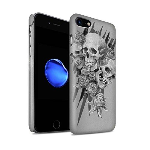STUFF4 Matte Snap-On Hülle / Case für Apple iPhone 7 Plus / Nebel Muster / Schädel Kunst Skizzieren Kollektion Drei