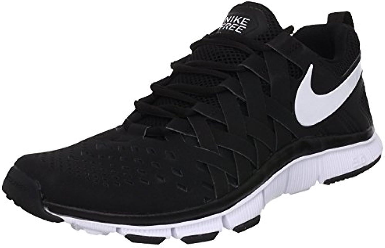 Nike Men's Free Trainer 5.0 (V4) Running Shoes, Black/White/Black, 38.5 D(M) EU/5.5 D(M) UK