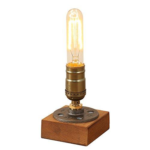 Industriell Edison Hölzern Metall Schmiedeeisen Schreibtischlampen Antiken Steampunk Tischlampe Schreibtisch Licht Tisch für Café Balkon Nachttisch Flur Schlafzimmer Wohnzimmer ()