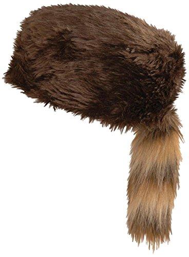 Biber Kostüm Schwanz - Widmann Hut Typ Trapper mit Schwanz von Murmeltier