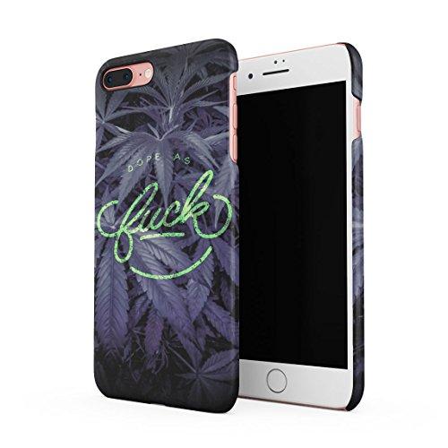 Dope As Fuck Cannabis Leaves Dünne Rückschale aus Hartplastik für iPhone 7 Plus & iPhone 8 Plus Handy Hülle Schutzhülle Slim Fit Case cover Dope As Fuck