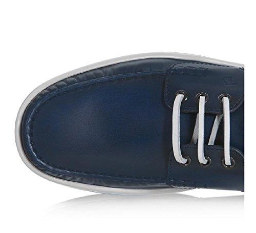 Chaussures bateau Tod's homme en cuir Bleu foncé - Code modèle: XXM0YR0P600BRXU803 Bleu foncé