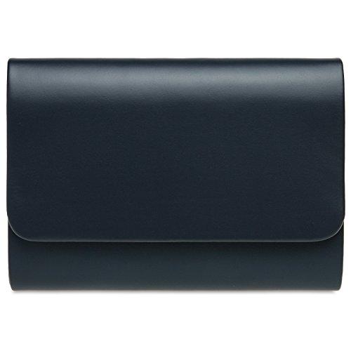 CASPAR TA411 Donna Pochette Grande Blu scuro