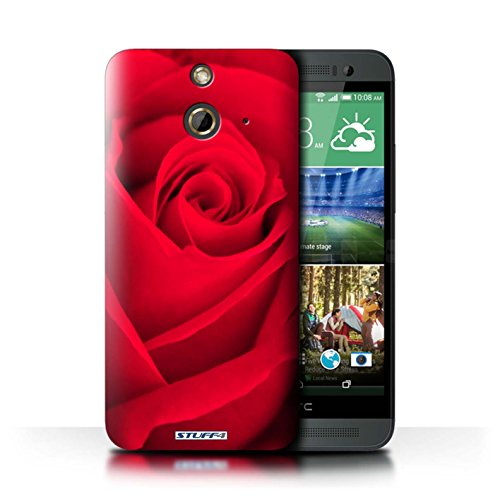 Kobalt® Imprimé Etui / Coque pour HTC One/1 E8 / Rose conception / Série Rose Rouge