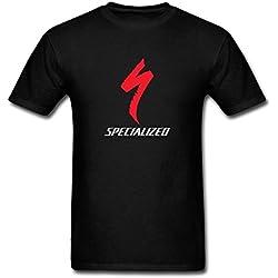 TIANRUNYG Logo especializada de los Hombres Manga Corta Camiseta