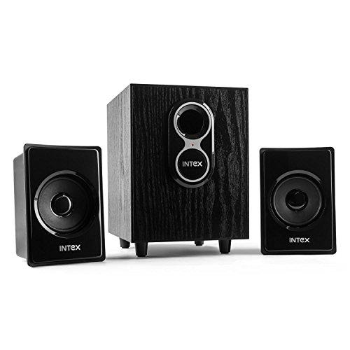 Intex IT-150 2.1 Multimedia Audiosystem   Lautsprechersystem für PC & Computer   1x integrierter Tieftöner   2x Satellitenlautsprecher   Wandmontage möglich   Cinch Ein- & Ausgang  Bassreflexgehäuse…