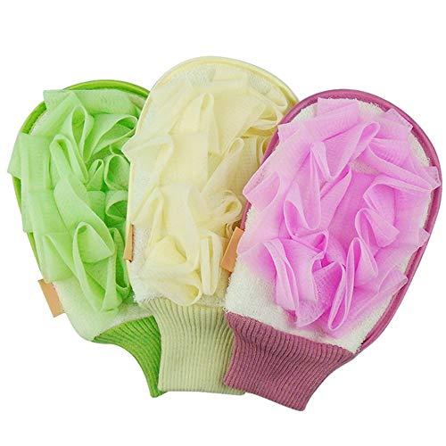 Hochwertige Peeling-Handschuhe Männer Und Frauen Körper Scrub Handschuhe Zur Beseitigung Trockener Toter Haut 5 Pack Entfernen Sie abgestorbene Haut Bath Body Scrub Mi ( Farbe : 5 pack random color ) -
