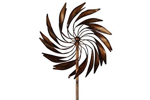 TS Gardendeco Windspiel Feder Iron, pulverbeschichtet und handpainted, bronze, 59 x 26 x 214 cm, 134397