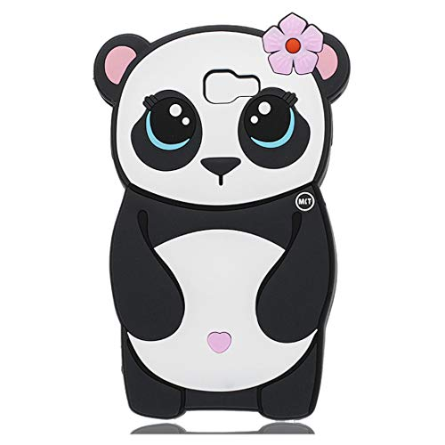 YuanYuZhongPhoneSky Cute 3D Pfirsichblüte Panda Hülle Kompatibel mit Samsung Galaxy J7 Prime /ON7 2016, Tropfen Schutz Mädchen Durable Auto handyhülle für Samsung Galaxy J7 Prime /ON7 2016