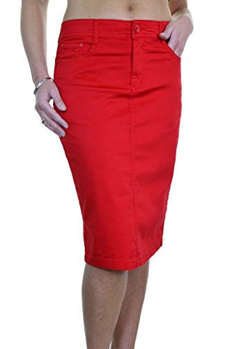 ice-2516-5-plus-size-stretch-chino-sheen-jeans-style-skirt-red-14