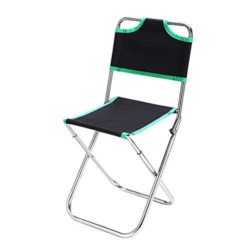 ZREAL Chaise pliante multifonctionnelle Chaise de pêche Chaise Camping Portable léger pliante Oxford d'alliage d'aluminium de dossier pour le camping Pique-nique de randonnée