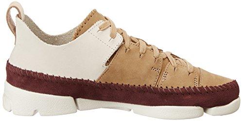 Clarks Trigenic Flex, Sneakers Basses Femme Beige (Fudge)