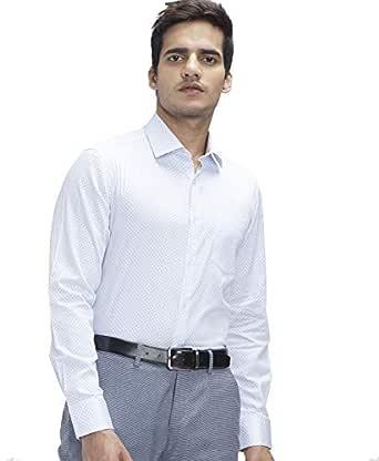Knighthood by FBB Printed Slim Fit Shirt - Men - White (40)