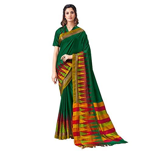 SP AURA Women's Cotton Kota Blend Saree (Simar Akhila. Genuine Aura Product)...