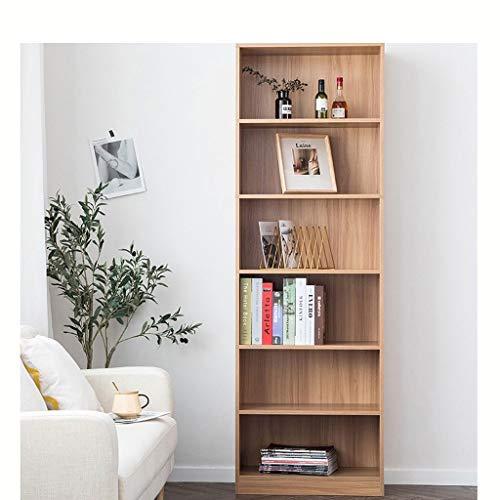 YST Bücherregal HX Bookshelf 6-stöckiges Bücherregal Mehrschichtige Spindregale Einfaches, modernes Kabinett Mehrschichtiges einfaches Lagerregal (Color : Oak) - Oak Media Storage