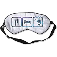Blue Galaxy Eat Sleep Fish 99% Eyeshade Blinders Sleeping Eye Patch Eye Mask Blindfold For Travel Insomnia Meditation preisvergleich bei billige-tabletten.eu