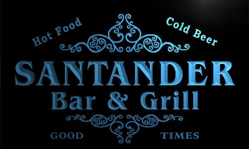 u39287-b-santander-family-name-bar-grill-home-brew-beer-neon-sign-barlicht-neonlicht-lichtwerbung