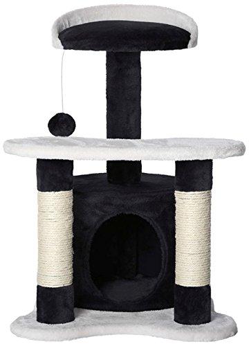 dibea KB00142, Kratzbaum - Kletterbaum für Katzen (Höhe 65 cm), schwarz/weiß