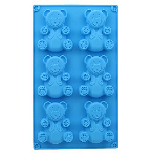 Bigsweety 6 Hohlraum Cartoon Bär Silikon Fondantform Schokolade Süßigkeiten Formen DIY Backenwerkzeuge, 29 * 17 * 1.8 cm 29 Formen