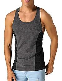 5ba670e2cdeb71 MODCHOK Gilet pour Homme Tank Tops sans Manches T-Shirt en Coton pour Homme  décontracté