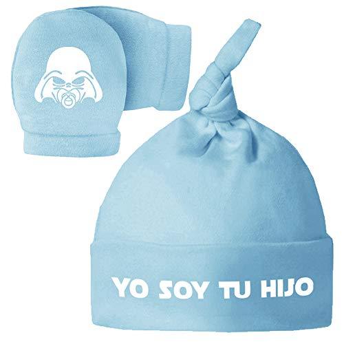Pack Gorro Manoplas recién Nacido. Yo Soy tu Hija