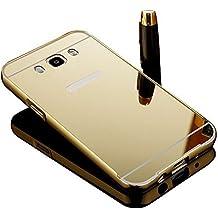 Vandot Premium Funda Aluminio para Samsung Galaxy J7 (2016 Version) Bumper Case del Metal Ultra Thin Espejo Efecto [Fusion Mirror] Trasero Case Cover Protección [Resistente a Arañazos] y [Choque Absorcion] Carcasa Caso-Oro