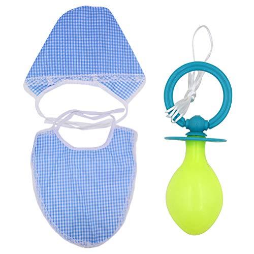 Amosfun Erwachsene Cosplay Baby Schnuller Lätzchen Hut Gag Spielzeug Pretend Baby Kinder Party Zubehör Kit 3 Stücke (Hut Für Erwachsene Kostüm Kit)