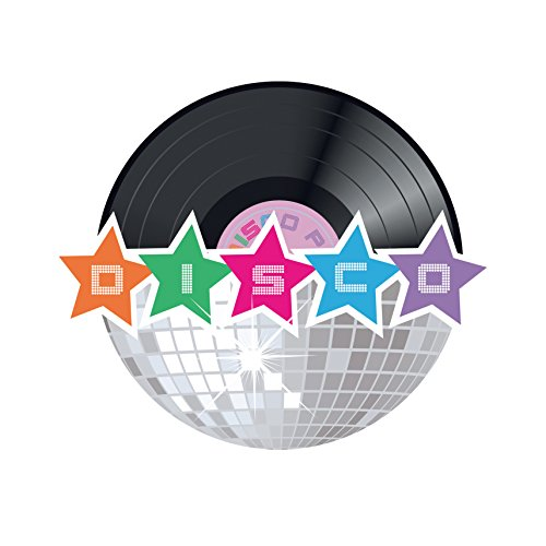 Boland 00732 – Set 4 Dekorationen Disco Party, mehrfarbig