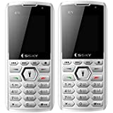 SSKY K7I (Dual SIM,1.8 Inch Display,1050 MAh Battery Combo Pack Of Two Mobile-White