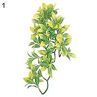 Yeshai3369 Artificial Reptile Plant Terrarium Vine Leaf for Lizards, Geckos, Climbing, Turtle, Crab