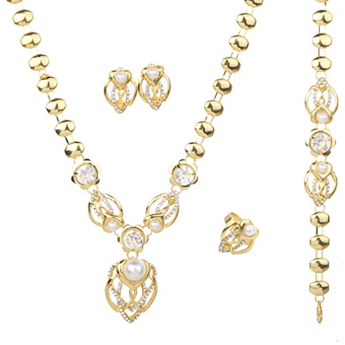 yazilind-charm-4pcs-gold-plated-crystal-faux-pearl-necklace-earring-jewelry-sets
