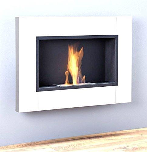 luxus kamin bio ethanol gelkamin wandkamin chemine wei hochglanz 1 brenner 78 cm