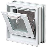 Ventana practicable: para el montaje en la pared de bloques de vidrio - 189x189mm, en lugar de 1 bloque de cristal 19x19x8 cm