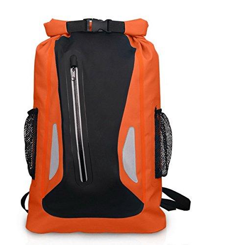 Acmebon Outdoor-Zaino Unisex impermeabile per arrampicata,kayak,canottaggio,canoa,pesca,rafting,borsa nuoto,da viaggio e avventura Giallo 604 arancia