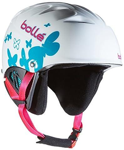 Bollé B-Free Kid Ski Helmet Shiny White Butterfly, 49–53cm, 31219