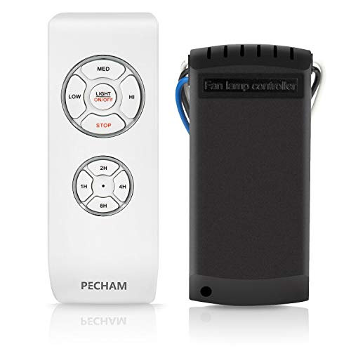 PECHAM [Control remoto para ventilador de techo] Control remoto inalámbrico universal para ventiladores de techo y su luz.