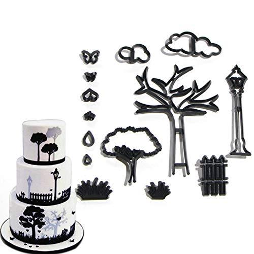 AxssjS 14 Teile/Satz Park Thema Fondant umweltfreundliche ausstecher keks Kuchen Maker DIY backform Schwarz