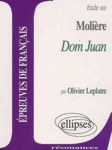Étude sur Molière Dom Juan