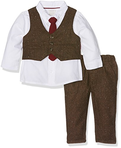 Mamas and Papas Baby Boys' 4Pc Tweed St Clothing Set, Brown, 18-24 Months