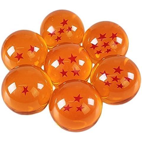 7Dragon Balls Z bolas como de figuras de acción Cristal con todas las estrellas, bolas/canicas/pelotas para Cosplay Disfraz Manga Anime Juego de Son