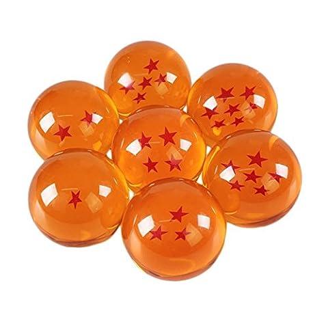 (Mit Geschenk-Box) 7 Dragonballs Z Kugeln wie aus Glas Action-Figuren mit allen Sternen, Kugeln/Murmeln/Bälle für Cosplay Kostüm Manga Anime Set Son-Goku