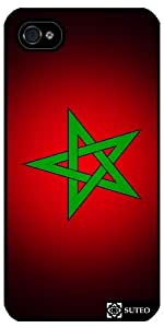 Coque Iphone 4/4S – Drapeau Maroc - ref 140