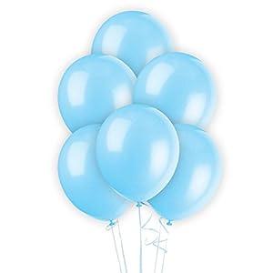 Gifts 4 All Occasions Limited SHATCHI-1040 - Lote de globos de látex (50 unidades, 30,5 cm), color azul claro