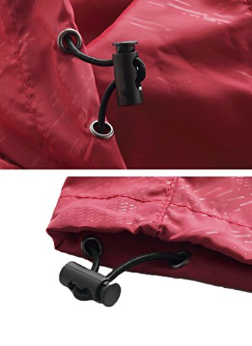 Mochoose Donna Super Leggero Giacca Indumenti Impermeabili all'aperto con Cappuccio Quick Dry Windbreaker UV Cmpermeabile Proteggere la Pelle Coat zaffiro blu